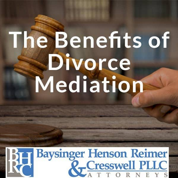 benefits of divorce mediation